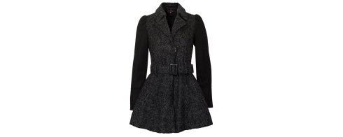 black-woolly-contrast-sleeve-belted-skirt-coat 54.99 newlook