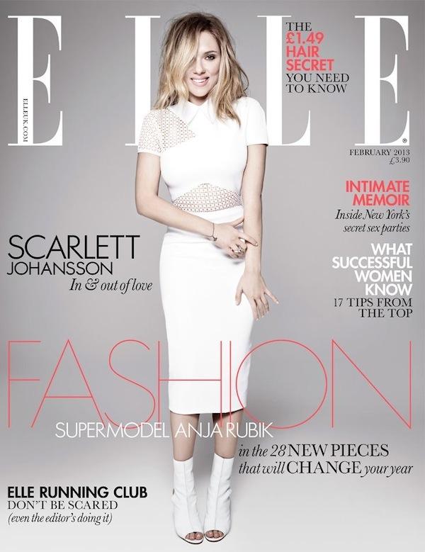 Scarlett Johansson ELLE UK February 2013 cover