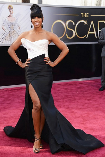 kelly rowland Donna Karan Atelier dress with slit