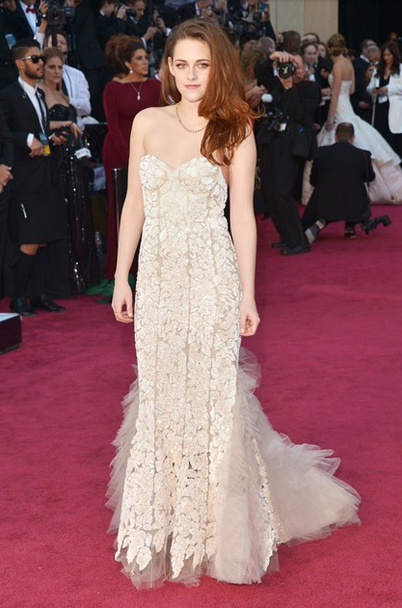 kristen stewart reem acra couture beaded gown