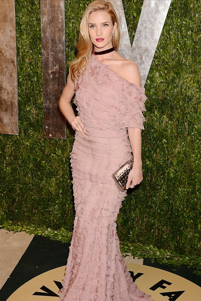 Vanity Fair party - Rosie Huntington-Whitely valentino dress