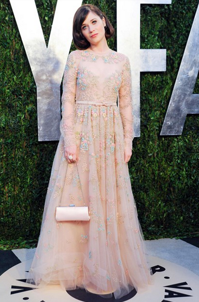 zoey deschannel valentino gown at VFP