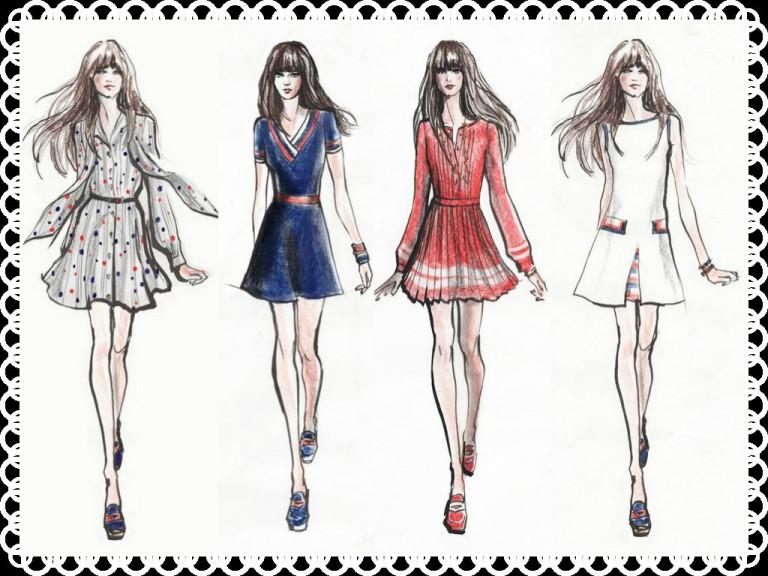 Zooey Deschanel Dress sketches