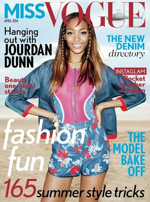 Miss Vogue cover Jourdan Dunn