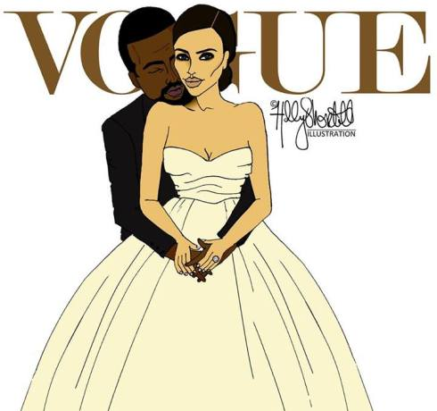 Kim & Kanye by Holly Shortall