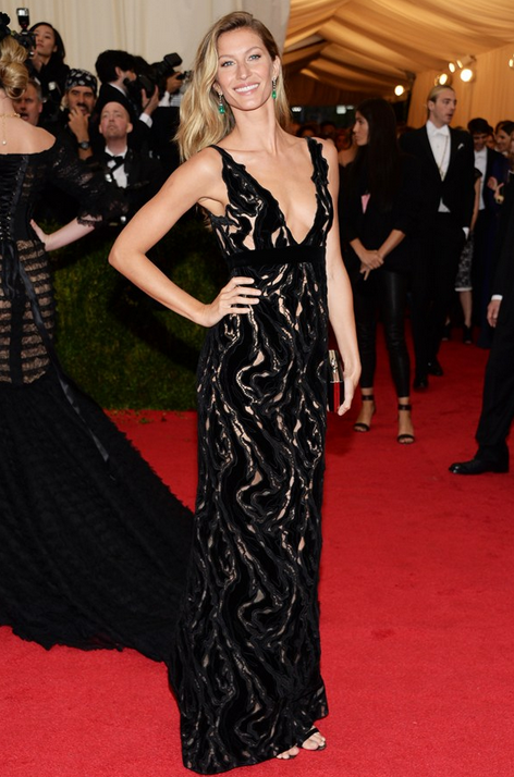 Giselle in Balenciaga gown