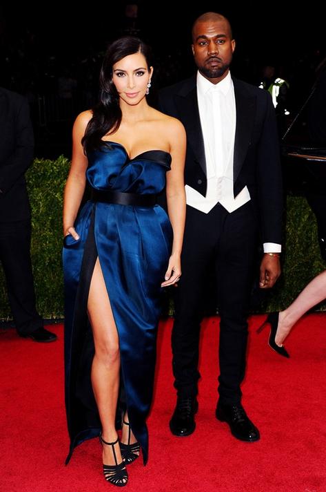 Kim and Kanye in Lanvin