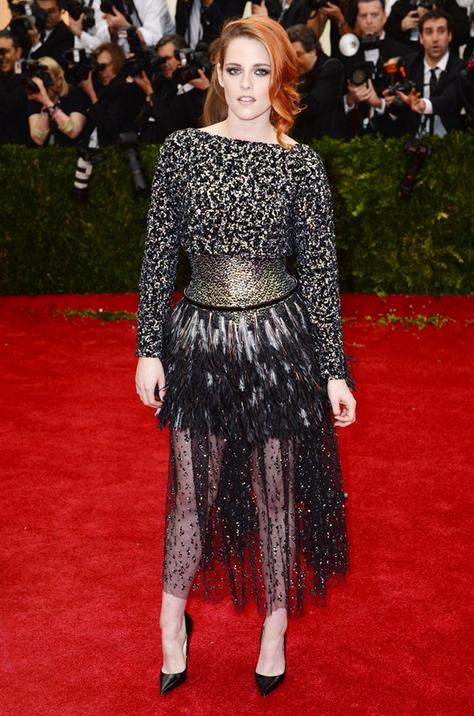 Kristen Stewart in Chanel ss14 with Christian Louboutin heels