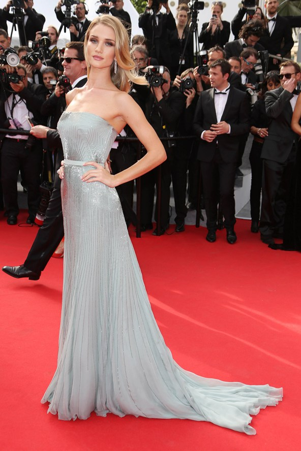 rosie huntington whitely gucci premiere gown
