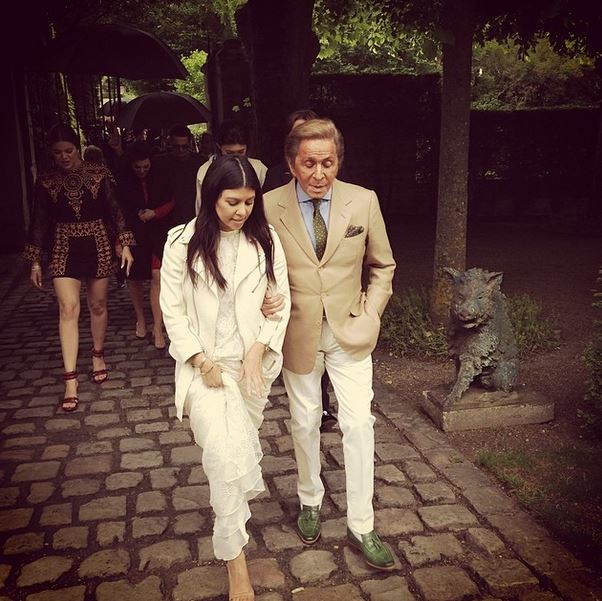 with valentino via kourtneykardash