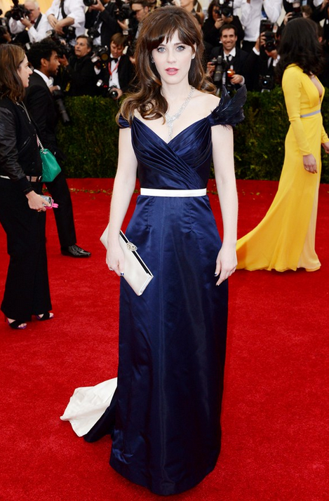zoey deschanel in tommy hilfiger with chanel neck